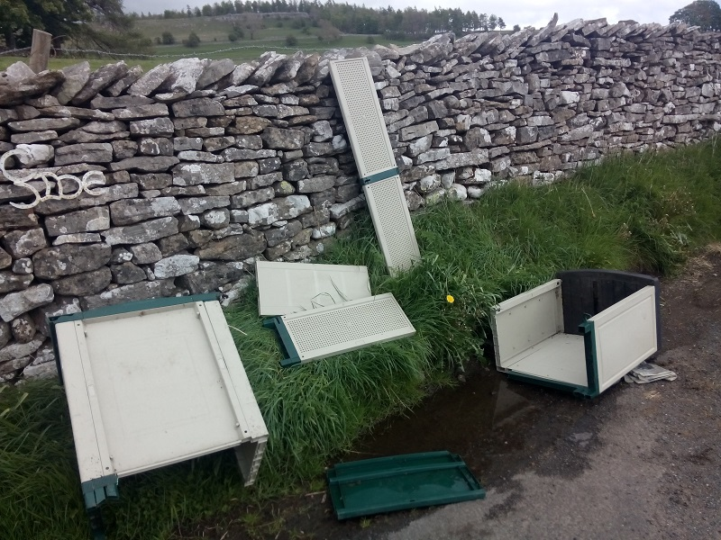 Fly-tipped cabinet
