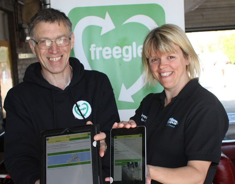 Freegle and Cumbria County Council launch the new Freegle mobile app