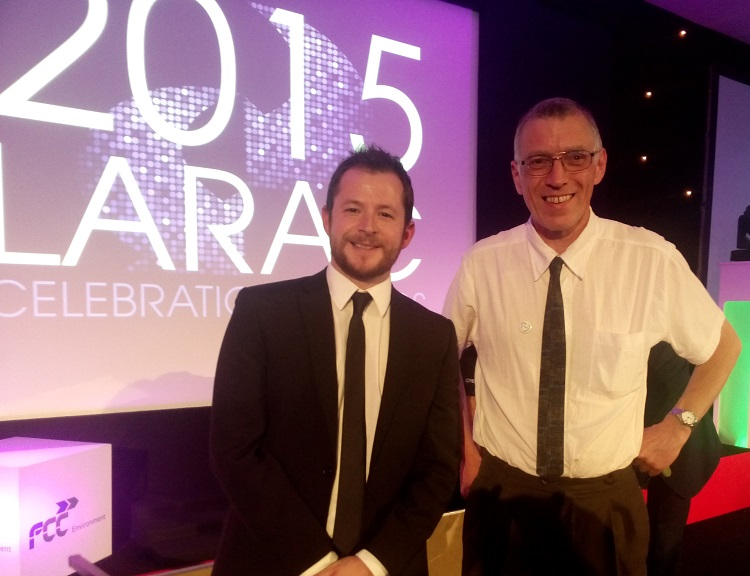 Freegle and Cumbria County Council were shortlisted for a partnership at the LARAC awards 2015