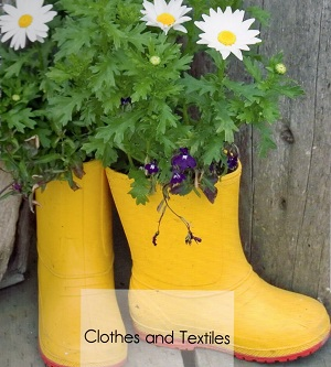Use your old wellies as planters